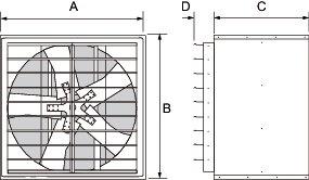 Images Dimensions - 1WMC 30FY Ventilador axial - Systemair