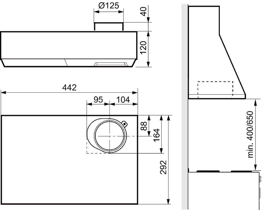 Images Dimensions - 400 hvit 45,3 cm - Systemair