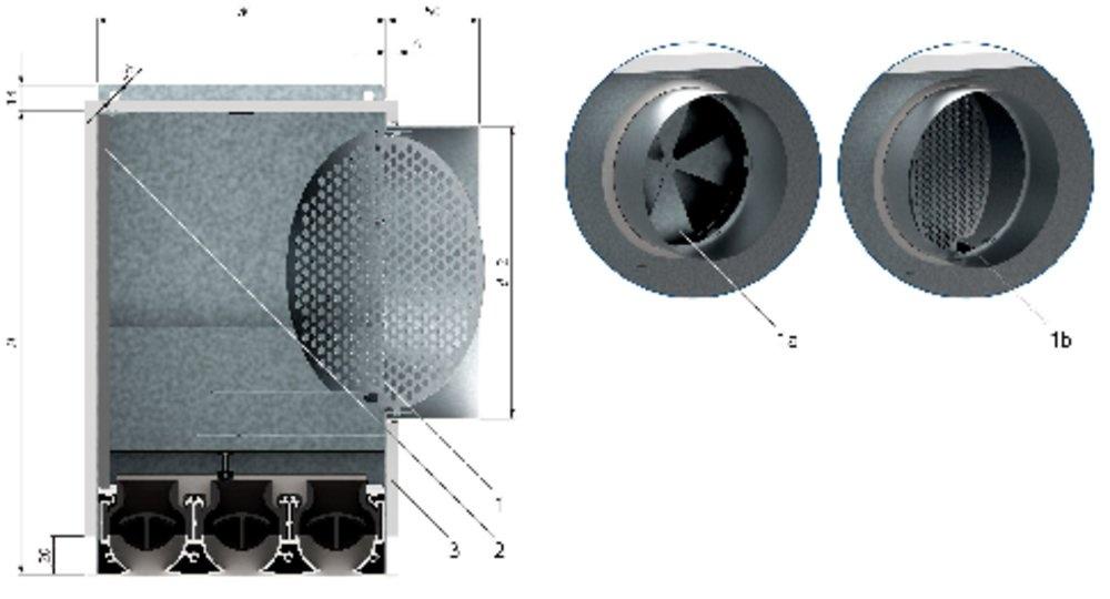 Images Dimensions - PB-KSV-1-1050-I1 - Systemair