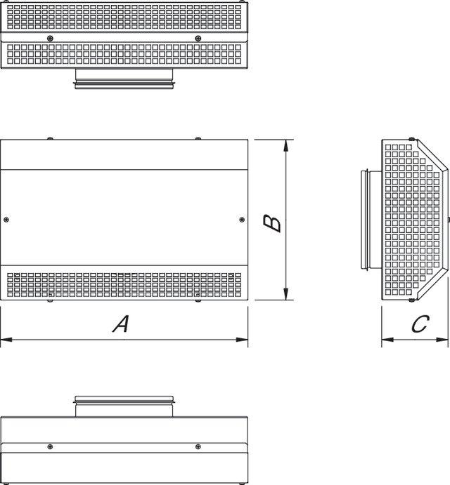 Images Dimensions - ITA 40-20 Intake grid - Systemair