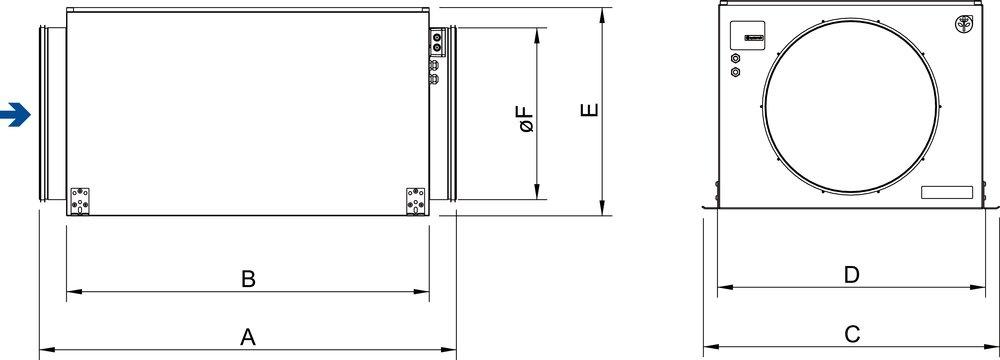 Images Dimensions - KVK Slim 200 AC - Systemair
