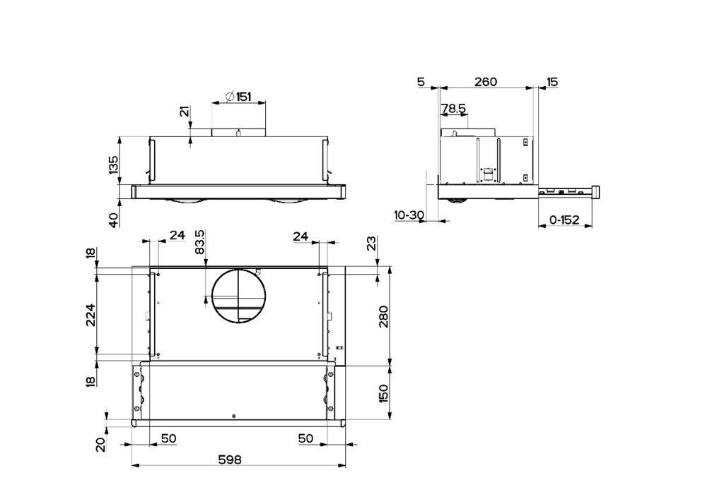 Images Dimensions - SL-3 hvit 60 cm - Systemair
