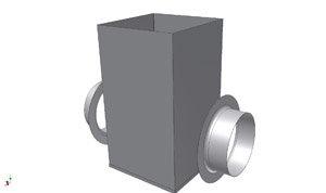 SQ560 Vierkante overschuifdeel - Systemair