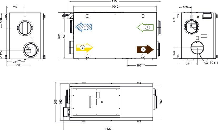 Images Dimensions - SAVE VSR 300 - Systemair