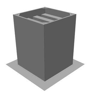 ZDS180 Dakopstand/Geluiddemper - Systemair